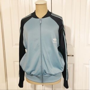 Early 2000's adidas light blue and navy track jack